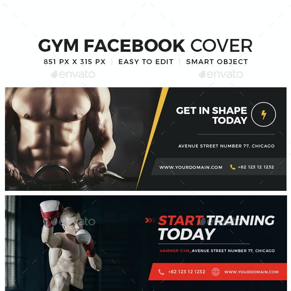 Gym & fitness Facebook Cover