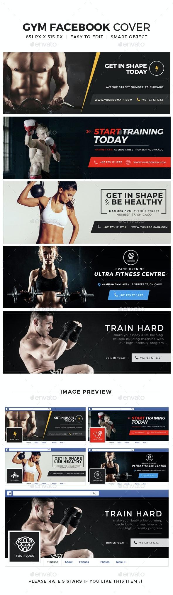 Gym & fitness Facebook Cover - Facebook Timeline Covers Social Media