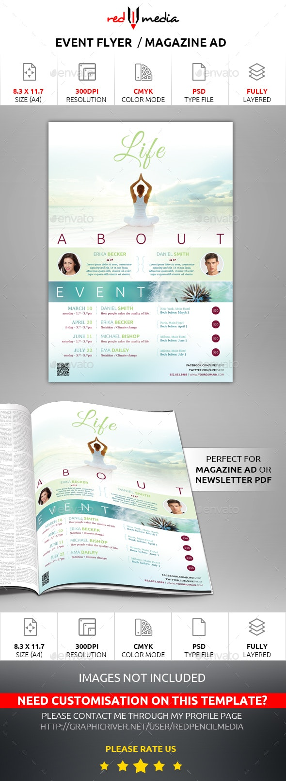 Event Flyer / Magazine AD - Events Flyers