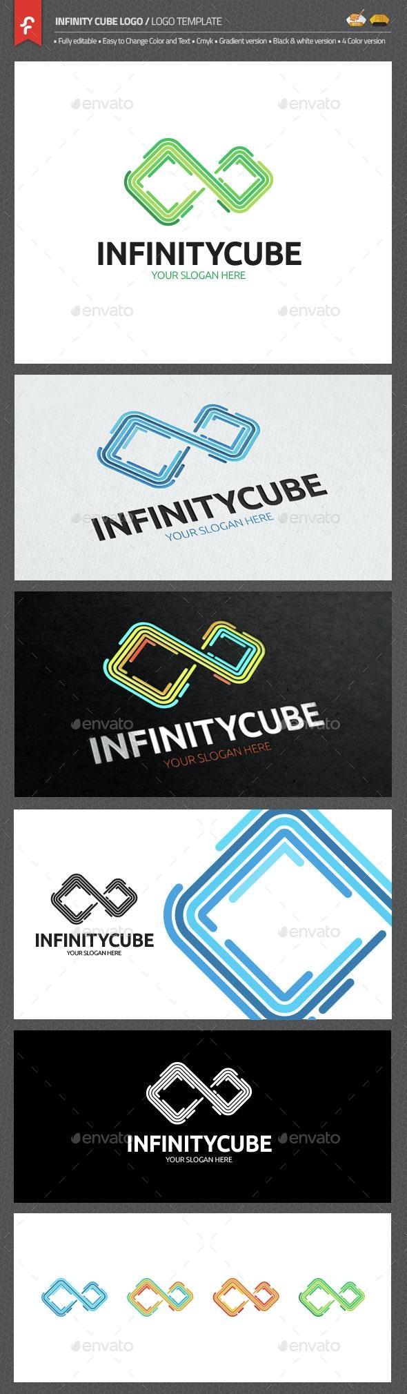 Infinity Cube Logo - Objects Logo Templates