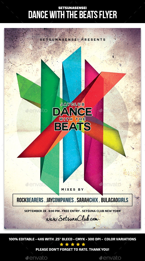 Dance with the Beats Flyer - Clubs & Parties Events