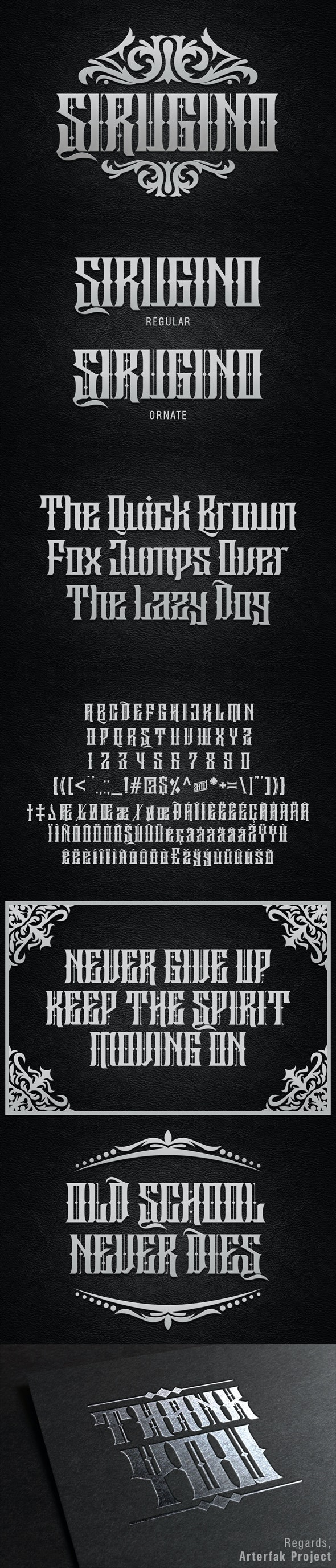 Sirugino Typeface - Gothic Decorative