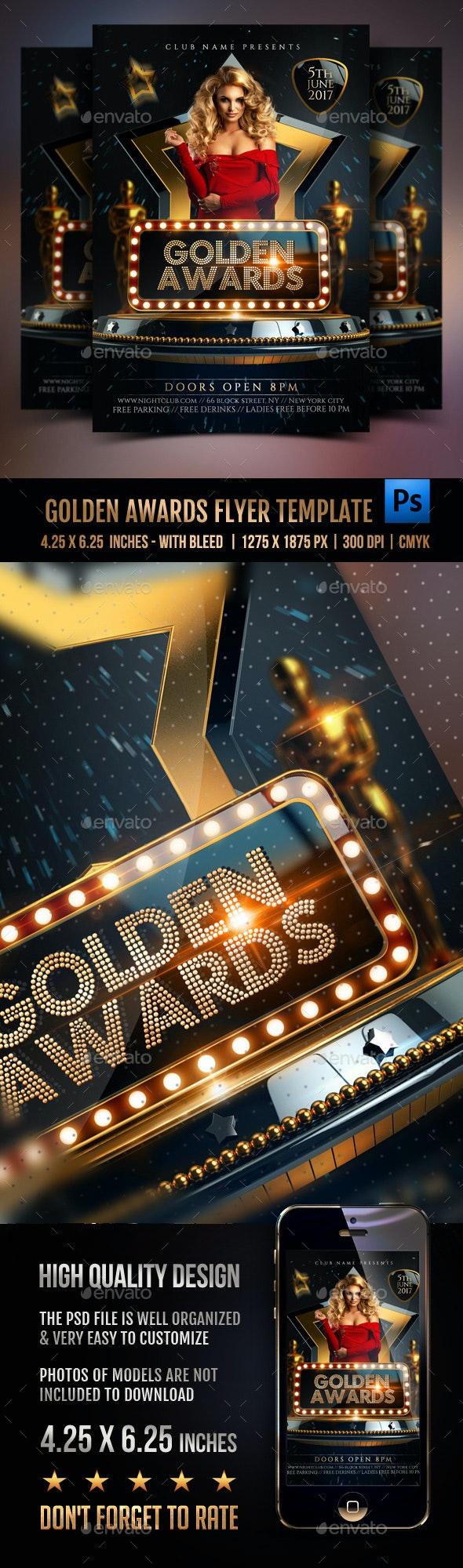 Golden Awards Flyer Template - Events Flyers