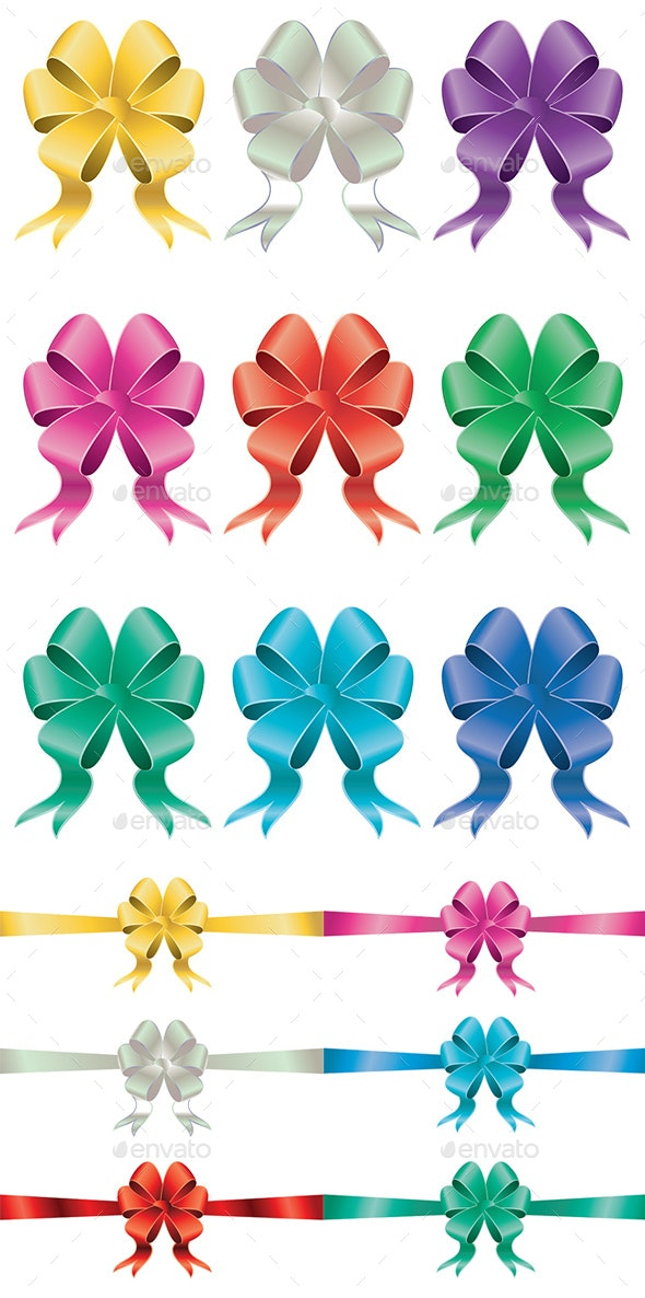 Holiday Bows Set - Decorative Symbols Decorative