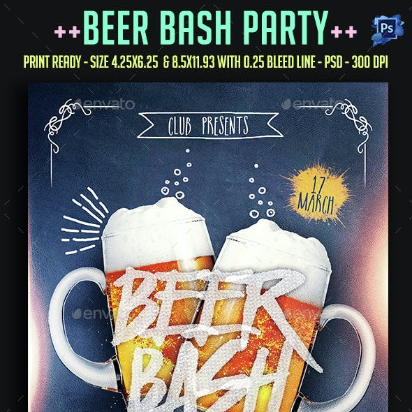 Beer Bash Party Flyer