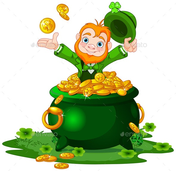 Leprechaun and Pot of Gold - People Characters