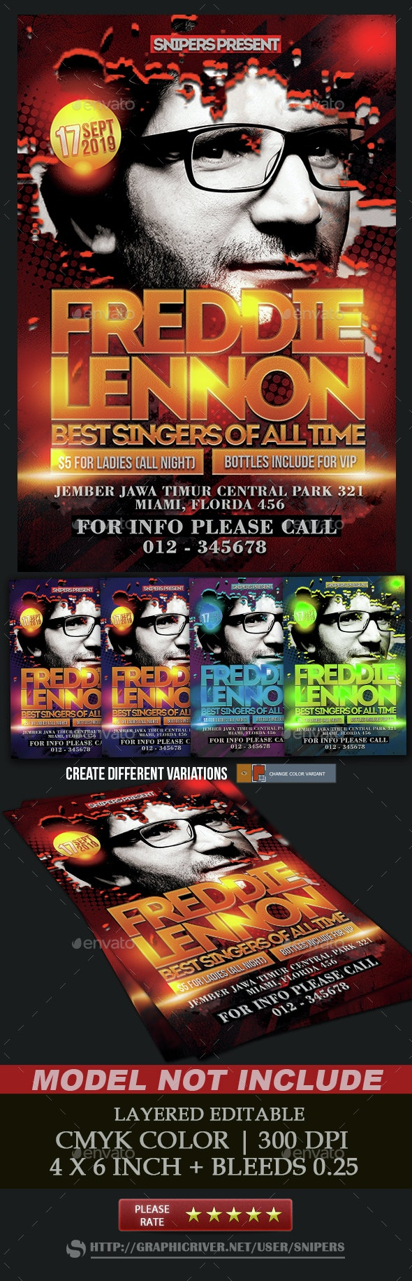 Artist Concert Flyer - Events Flyers