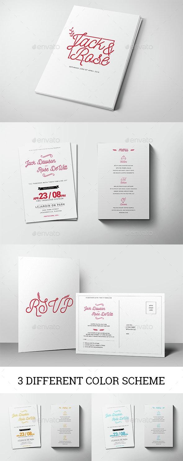 Ibar Wedding Invitation - Weddings Cards & Invites