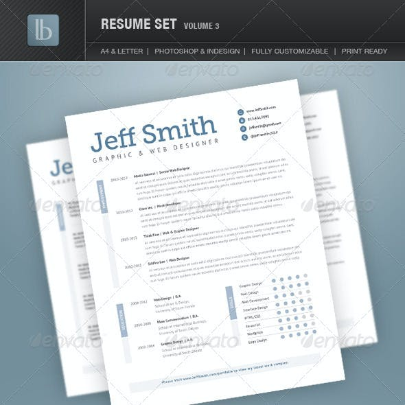 Resume Set | Volume 3
