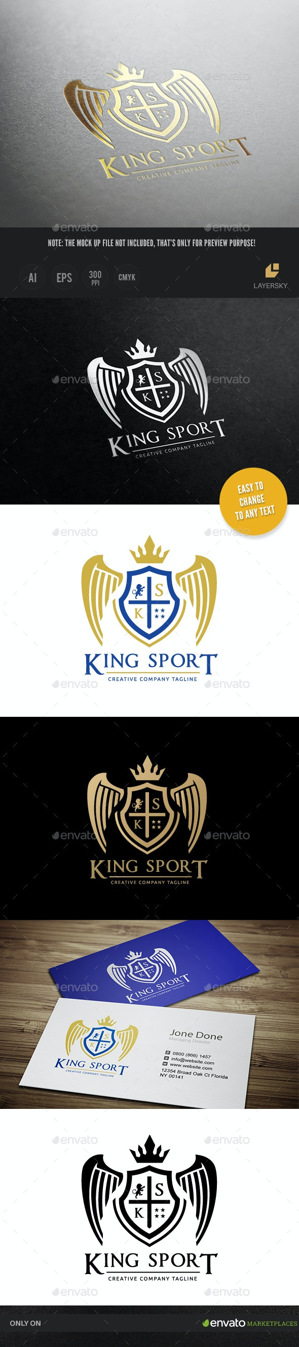 King Sport Logo - Crests Logo Templates