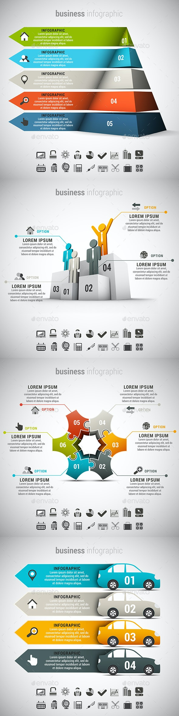 4 in 1  Infographics Bundle - Infographics