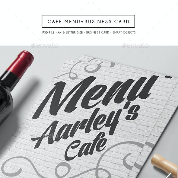 Cafe Menu + Business Card