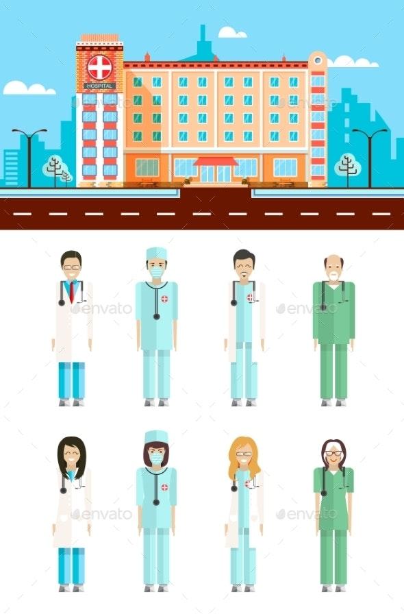 Polyclinic With Doctors - Health/Medicine Conceptual