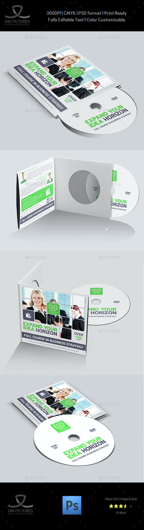 Corporate CD / DVD Cover and Label Template - CD & DVD Artwork Print Templates