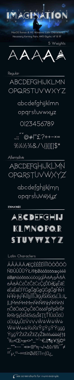 Imagination Typeface - Serif Fonts