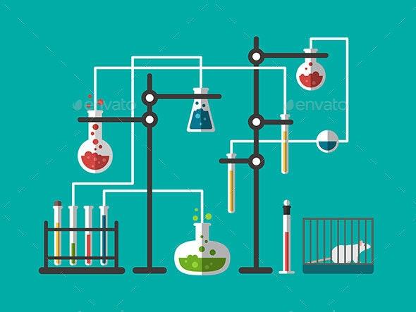 Laboratory Design Flat - Miscellaneous Vectors