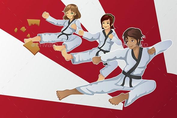 Martial Art Banner - Sports/Activity Conceptual
