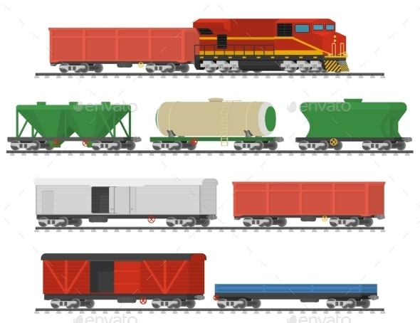 Collection of Freight Railway Cars - Industries Business