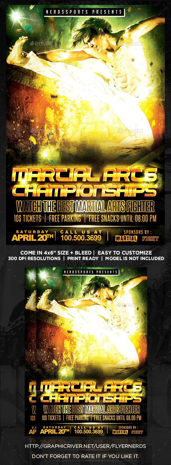 Martial Arts Championships Sports Flyer - Sports Events