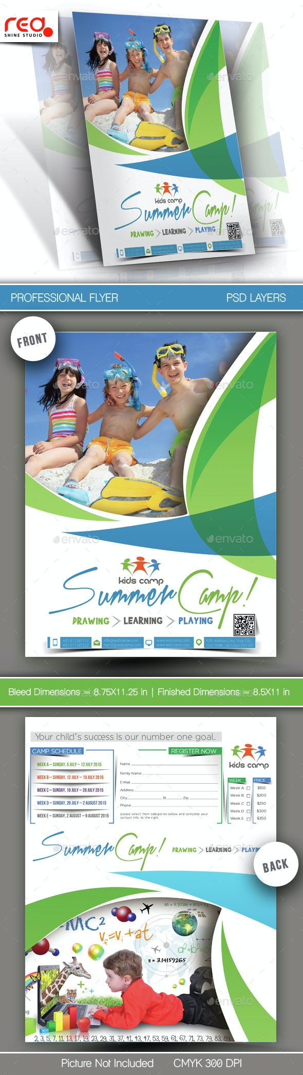 Summer Camp Flyer Template - 1 - Corporate Flyers
