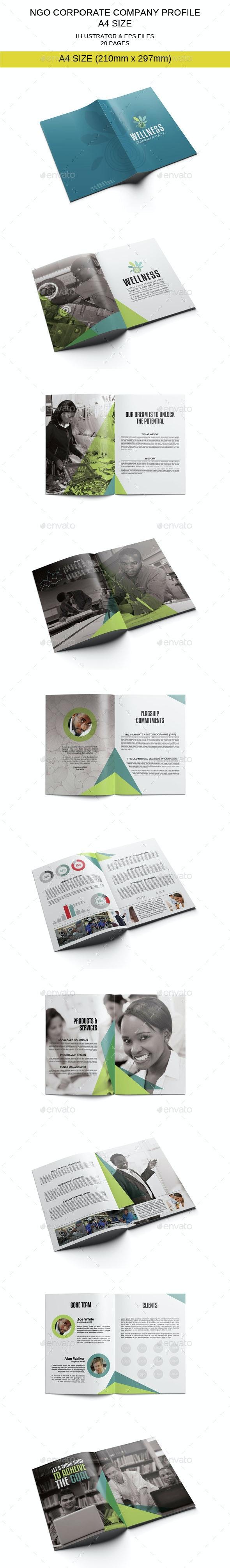 NGO Corporate Company Profile Template - Corporate Brochures