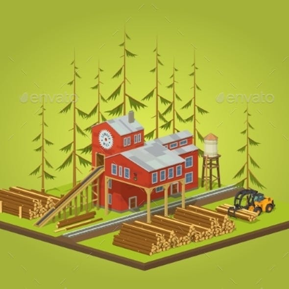 Lumber Mill Sawmill Building
