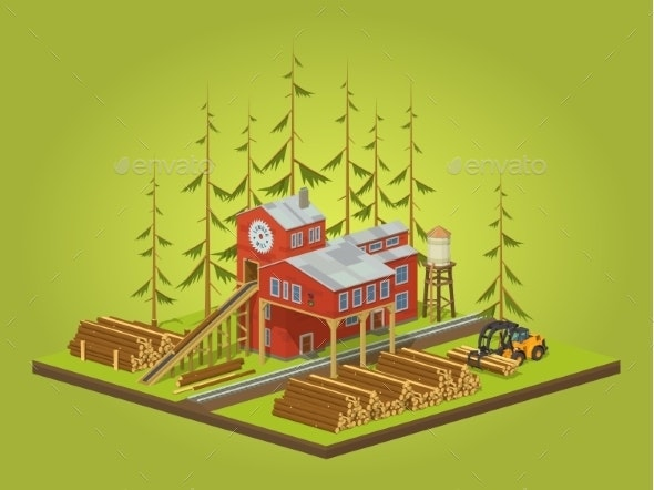 Lumber Mill Sawmill Building - Industries Business