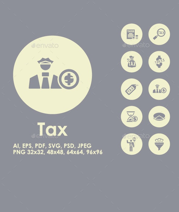 Tax simple icons - Business Icons