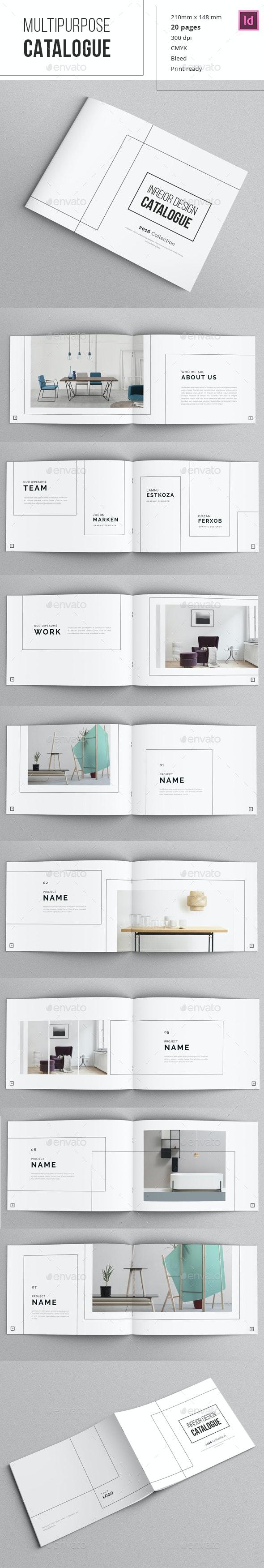 Minimal Indesign Catalogue - Catalogs Brochures