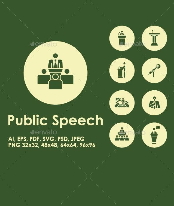 Public Speech simple icons - Media Icons