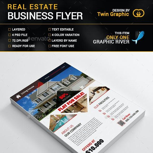 Real Estate business flyer design.