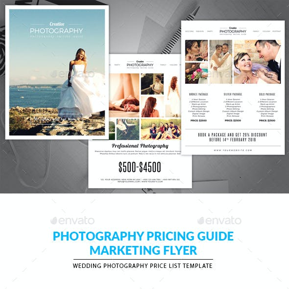 Minimal Photography Price List Template