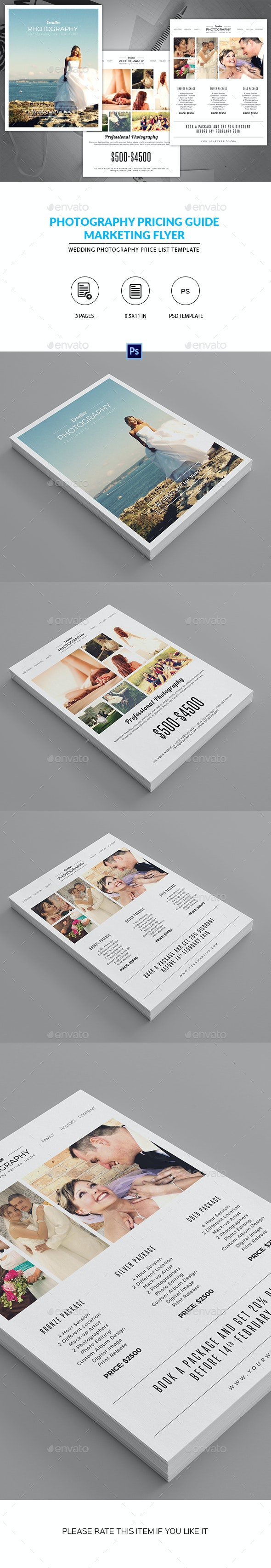 Minimal Photography Price List Template - Corporate Flyers