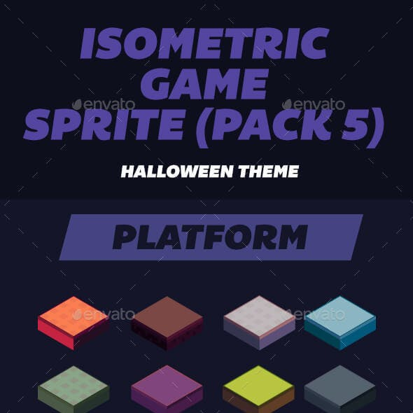 Isometric Game Assets Halloween