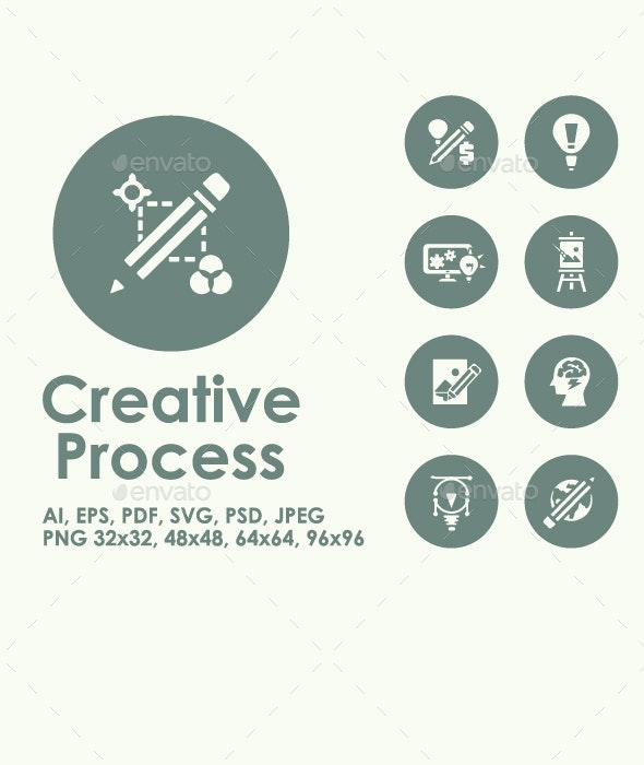 Creative Process simple icons - Technology Icons