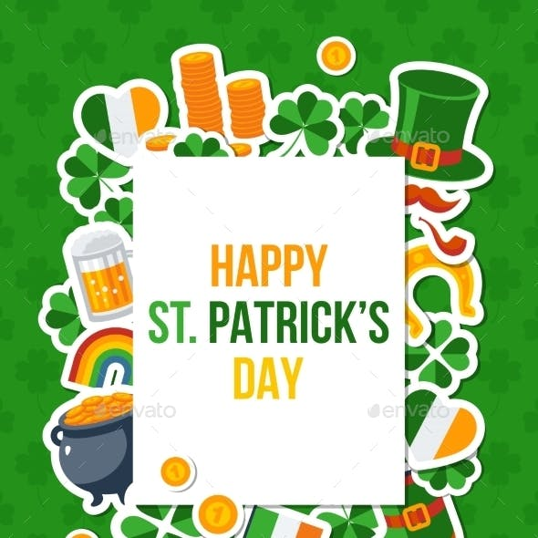 Saint Patricks Day Banner with Square Frame