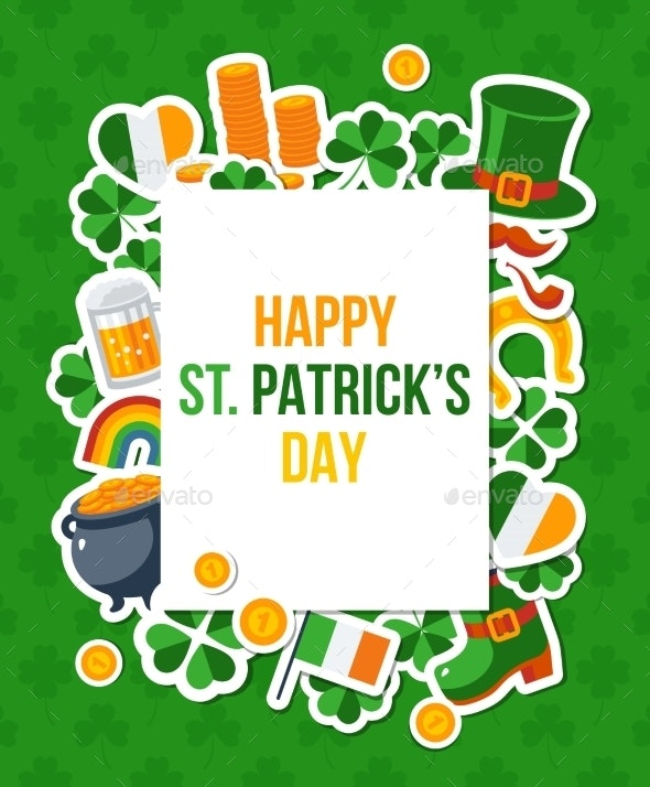 Saint Patricks Day Banner with Square Frame - Miscellaneous Seasons/Holidays