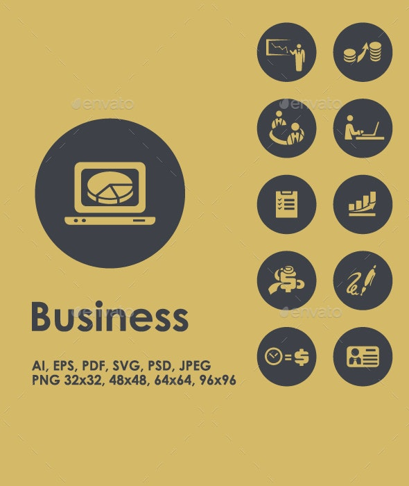 Business simple icons - Business Icons