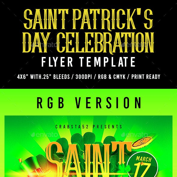 Saint Patrick's Day Celebration Flyer Template
