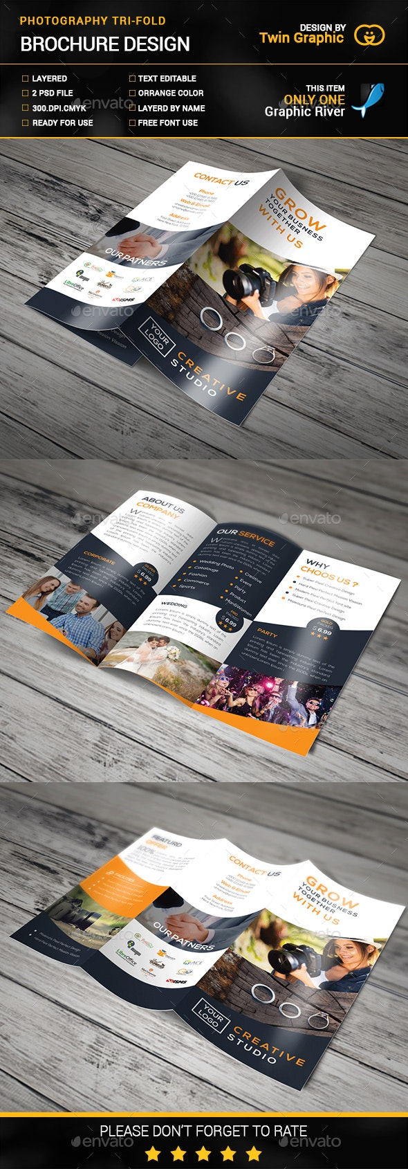 Photography Tri-Fold Brochure - Brochures Print Templates
