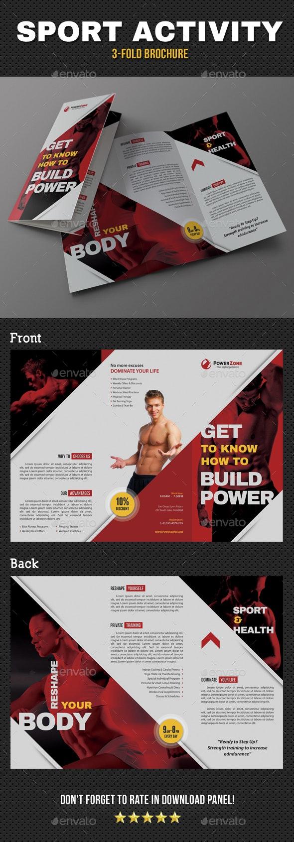Sport Activity 3-Fold Brochure v03 - Brochures Print Templates