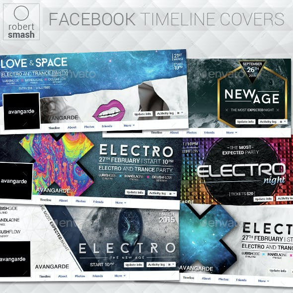 6 Music Event Facebook Timeline Covers vol.3