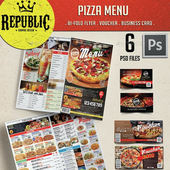 Restaurant Pizza Menu 2