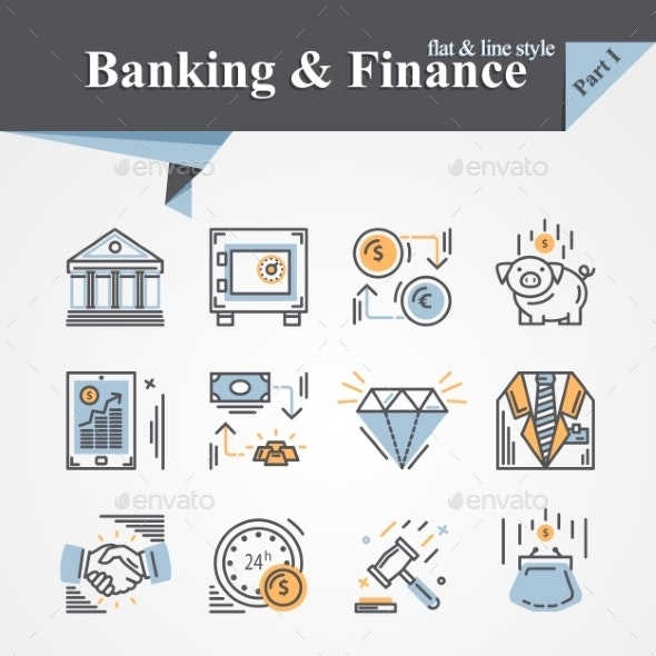 Banking and Finance  Icon - Concepts Business