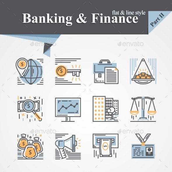 Banking and Finance Icons - Concepts Business