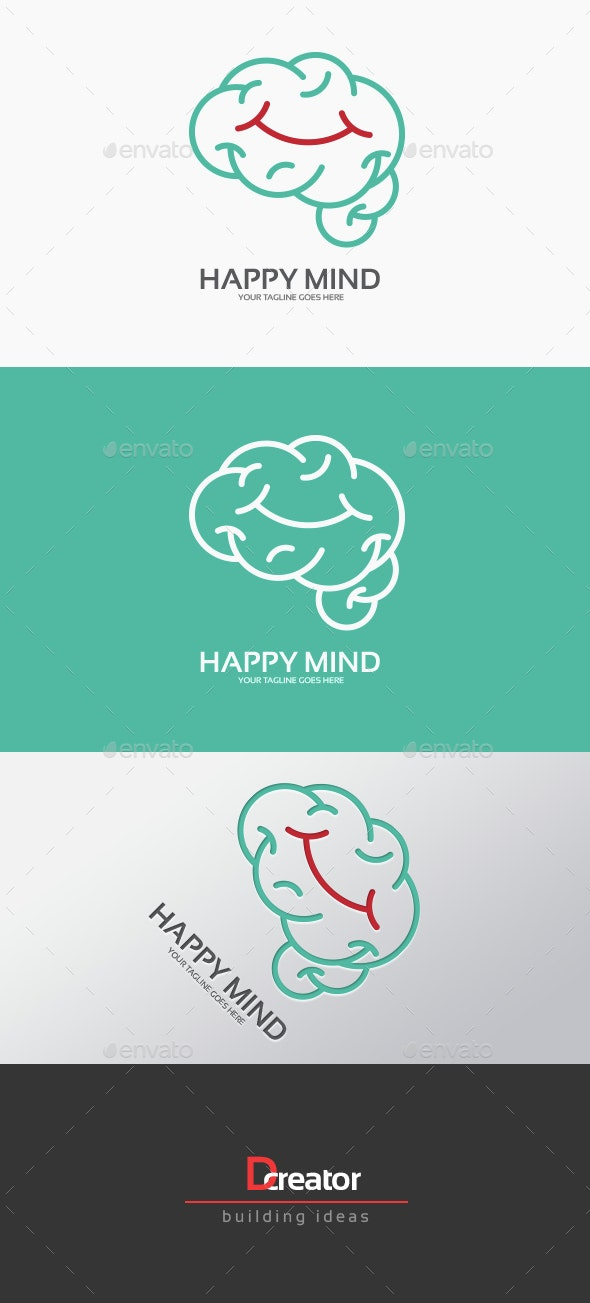 Happy Mind Logo - Humans Logo Templates