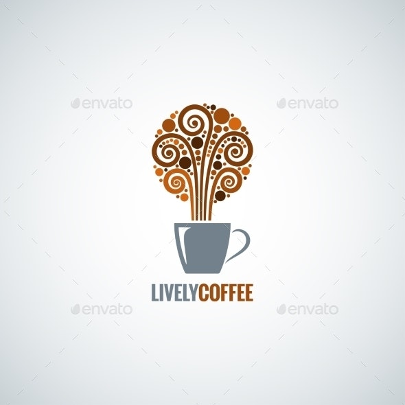 Coffee Cup Design Concept Background - Food Objects