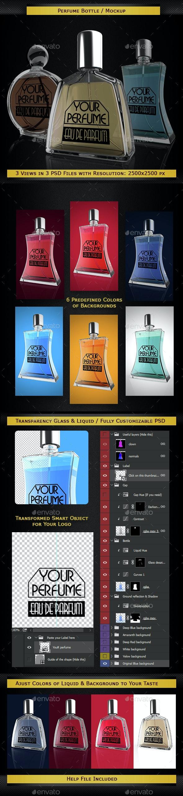 Perfume Bottles Mockup - Miscellaneous Product Mock-Ups