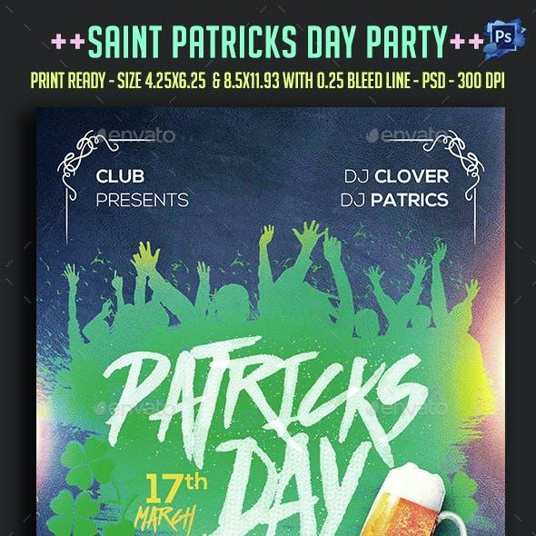 Saint Patricks Day Party Flyer