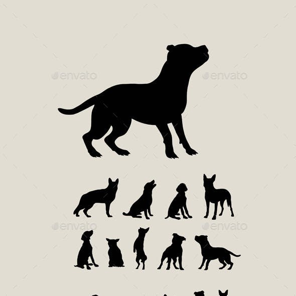 Dog Set Silhouettes